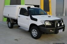 2009 Toyota Hilux KUN26R MY09 SR White 5 Speed Manual Cab Chassis Kenwick Gosnells Area Preview
