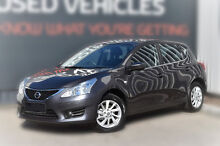 2014 Nissan Pulsar C12 ST Storm Grey 1 Speed Constant Variable Hatchback Berwick Casey Area Preview