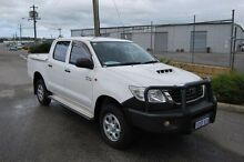 2011 Toyota Hilux KUN26R MY12 SR Double Cab White 5 Speed Manual Utility Kenwick Gosnells Area Preview