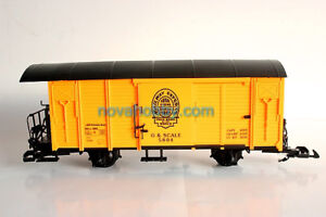 NEW NQD G Scale Cargo Carrige Yellow Closed sides