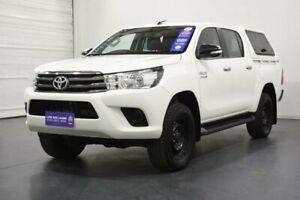 2017 Toyota Hilux GUN126R SR (4x4) White 6 Speed Automatic Dual Cab Utility Oakleigh Monash Area Preview