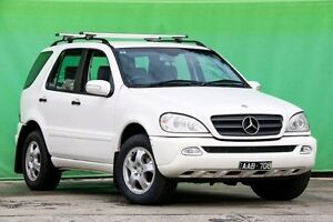 2003 Mercedes-Benz ML270 CDI W163 MY2002 Luxury White 5 Speed Sports Automatic Wagon Ringwood East Maroondah Area Preview