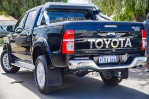2015 Toyota Hilux KUN26R MY14 SR5 Double Cab Eclipse Black 5 Speed Automatic Utility