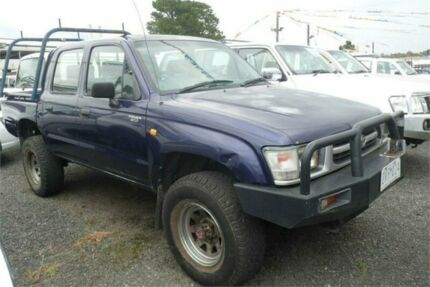1999 Toyota Hilux LN167R (4x4) Blue 5 Speed Manual 4x4 Dual Cab Pick-up Bayswater North Maroondah Area Preview
