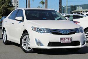 2013 Toyota Camry AVV50R Hybrid HL White 1 Speed Constant Variable Sedan Hybrid Upper Mount Gravatt Brisbane South East Preview