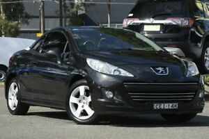 2012 Peugeot 207 A7 Series II MY12 CC Black 4 Speed Sports Automatic Cabriolet Condell Park Bankstown Area Preview
