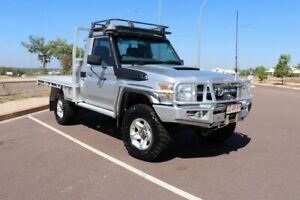 2014 Toyota Landcruiser VDJ79R GXL Double Cab Silver Pearl 5 Speed Manual Cab Chassis Gunn Palmerston Area Preview