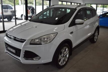 2014 Ford Kuga TF Trend PwrShift AWD White 6 Speed Sports Automatic Dual Clutch Wagon Port Macquarie Port Macquarie City Preview