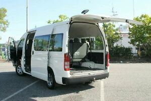 2010 Toyota Hiace TRH223R MY10 Commuter High Roof Super LWB White 4 Speed Automatic Bus Bungalow Cairns City Preview