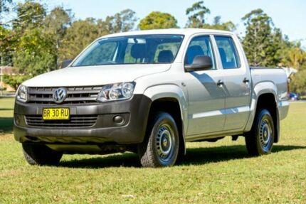 2012 Volkswagen Amarok 2H MY13 TDI400 4Mot White 6 Speed Manual Utility Girards Hill Lismore Area Preview
