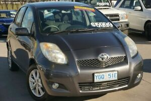 2009 Toyota Yaris NCP90R MY09 Edge Grey 5 Speed Manual Hatchback Pearce Woden Valley Preview