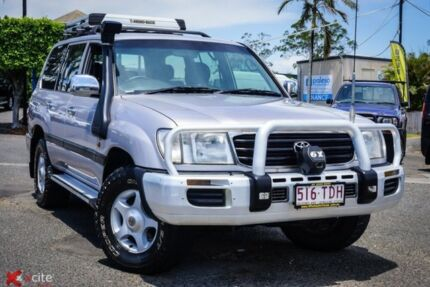 2001 Toyota Landcruiser HDJ100R GXL Silver 4 Speed Automatic Wagon Archerfield Brisbane South West Preview