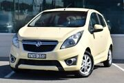 2013 Holden Barina Spark MJ MY14 CD Yellow 5 Speed Manual Hatchback Cardiff Lake Macquarie Area Preview