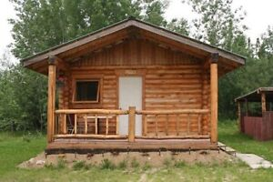 Log cabin for rent, at Hanson Lake Road (Little Bear Lake)
