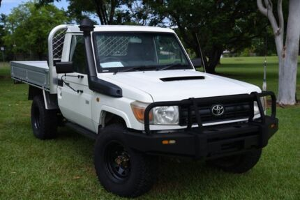 2012 Toyota Landcruiser VDJ79R MY10 Workmate White 5 Speed Manual Cab Chassis Winnellie Darwin City Preview