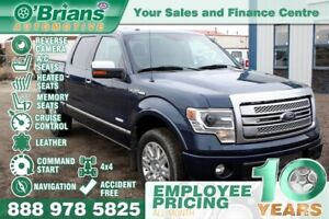 2013 Ford F-150 Platinum - Accident Free! w/Leather, Command Sta