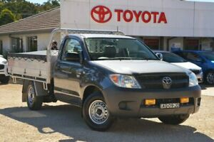 2007 Toyota Hilux TGN16R 07 Upgrade Workmate Grey 5 Speed Manual Cab Chassis Wyong Wyong Area Preview