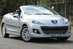 2011 Peugeot 207 A7 Series II MY10 CC Silver 4 Speed Sports Automatic Cabriolet Lansvale Liverpool Area Preview