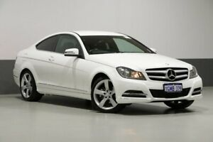 2013 Mercedes-Benz C250 W204 MY14 CDI White 7 Speed Automatic G-Tronic Coupe Bentley Canning Area Preview