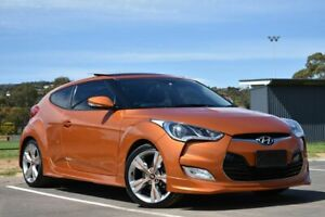 2013 Hyundai Veloster FS2 Coupe D-CT Orange 6 Speed Sports Automatic Dual Clutch Hatchback St Marys Mitcham Area Preview