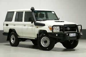 2019 Toyota Landcruiser VDJ76R MY18 Workmate (4x4) White 5 Speed Manual Wagon Bentley Canning Area Preview