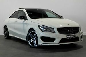 2014 Mercedes-Benz CLA-Class C117 CLA250 DCT 4MATIC Sport White 7 Speed Sports Automatic Dual Clutch Bayswater Bayswater Area Preview