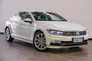 2017 Volkswagen Passat 3C (B8) MY18 206TSI DSG 4MOTION R-Line White 6 Speed Myaree Melville Area Preview
