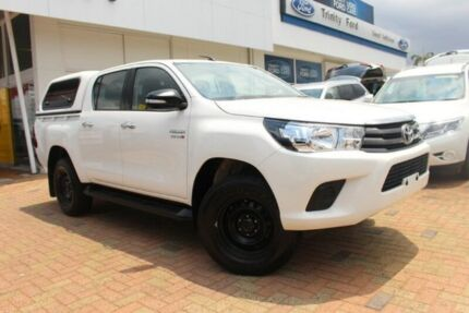 2016 Toyota Hilux GUN126R SR Double Cab White 6 Speed Sports Automatic Utility Parramatta Park Cairns City Preview