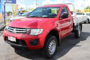 2012 Mitsubishi Triton MN MY13 GLX Red 5 Speed Manual Cab Chassis Underwood Logan Area Preview
