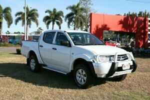 2013 Mitsubishi Triton MN MY14 GLX Double Cab White 5 Speed Manual Utility Townsville Townsville City Preview