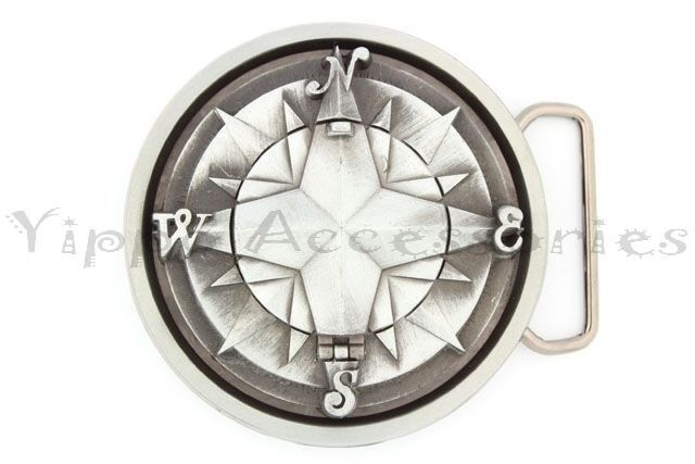 Compass Metal Fashion Belt Buckle