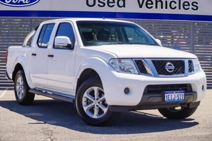 2013 Nissan Navara D40 S6 MY12 ST White 5 Speed Sports Automatic Utility Maddington Gosnells Area Preview