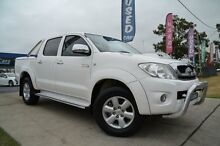 2010 Toyota Hilux KUN26R 09 Upgrade SR5 (4x4) White 5 Speed Manual Dual Cab Pick-up Mulgrave Hawkesbury Area Preview