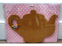 Teapot notice board with pins (NEW)