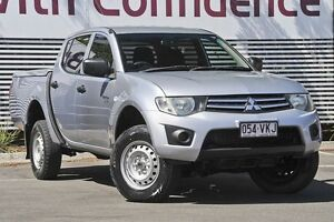2009 Mitsubishi Triton MN MY10 GLX Double Cab Silver 5 Speed Manual Utility Mount Gravatt Brisbane South East Preview