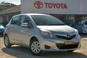 2013 Toyota Yaris NCP130R YR Silver Pearl 5 Speed Manual Hatchback Wyong Wyong Area Preview