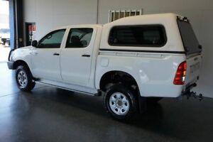 2011 Toyota Hilux KUN26R MY11 Upgrade SR (4x4) White 5 Speed Manual