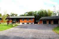 NEW PRICE, LOG HOME WITH ACREAGE & LOG 1400SQ FT GARAGE