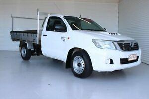 2012 Toyota Hilux KUN16R MY12 SR 4x2 White 5 Speed Manual Cab Chassis Parramatta Park Cairns City Preview