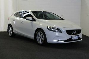 2014 Volvo V40 M Series MY14 D2 Kinetic HBK PWER 6sp 1.6DT White Hatchback Derwent Park Glenorchy Area Preview