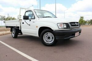 2003 Toyota Hilux RZN149R MY02 4x2 White Solid 5 Speed Automatic Cab Chassis Gunn Palmerston Area Preview