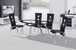 BRAND NEW GLASS TOP DINETTE ***$200 OFF!!