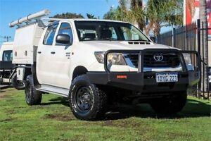 2012 Toyota Hilux KUN26R MY12 SR Double Cab 5 Speed Manual Cab Chassis Wangara Wanneroo Area Preview