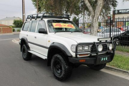 1997 Toyota Landcruiser GXL (4x4) White 4 Speed Automatic 4x4 Wagon Klemzig Port Adelaide Area Preview
