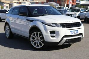 2012 Land Rover Range Rover Evoque L538 MY12 SD4 CommandShift Dynamic White 6 Speed Sports Automatic Northbridge Perth City Area Preview