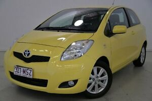 2009 Toyota Yaris NCP90R MY09 Edge Yellow 5 Speed Manual Hatchback Mansfield Brisbane South East Preview