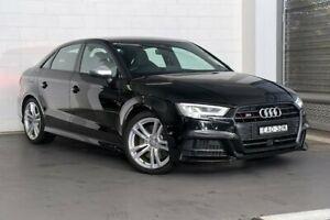 2018 Audi S3 8V MY18 S Tronic Quattro Black 7 Speed Sports Automatic Dual Clutch Sedan Zetland Inner Sydney Preview