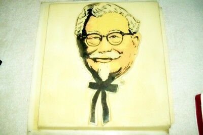 Vintage 1950S Kentucky Fried Chicken Restaurant Rotating Sign Panel Col  Sanders