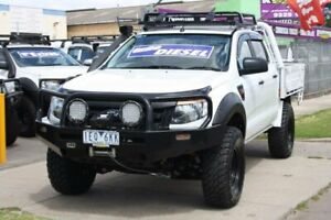 2015 Ford Ranger PX XL Double Cab White 6 Speed Sports Automatic Cab Chassis Altona North Hobsons Bay Area Preview