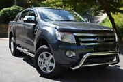 2014 Ford Ranger PX XLT Double Cab Grey 6 Speed Manual Utility St Marys Mitcham Area Preview